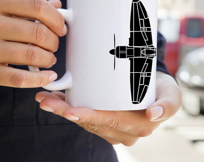 KillerBeeMoto: U.S. Made Coffee Mug Hawker Tempest Fighter Aircraft Top Down View