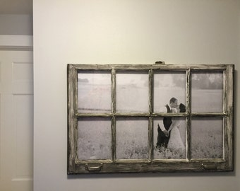 Customizable Rustic Window Pane Picture Frame