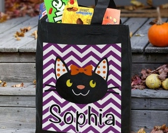 Personalized Halloween Bag, Trick or Treat Bag,