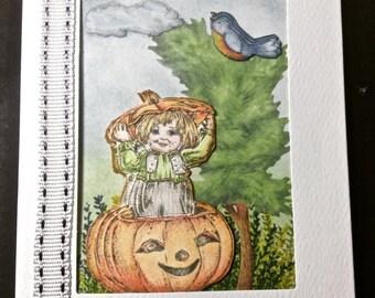 Framed Art Card, Stationery, Pumpkin Patch, Fall Season, Thanksgiving