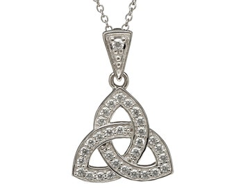 Celtic knot necklace, sterling silver celtic jewelry.