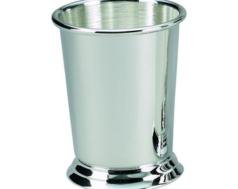 Mint Julep Cup Free Engraving. Silver Plate, High Quality, 7oz
