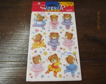 Vintage American Greetings Stickers New Mint in package You Choose - Ballet Bear Birthday Bear Forest Critters Dogs or Dolls