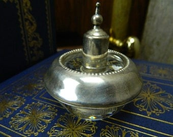 Vintage Mid Century Frank M. Whiting Sterling Silver and Glass Table Top Lighter