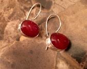 Sterling Silver and Carnelian Earrings