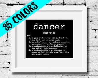 Dancer Definition, Dancer Print, Dance Teacher, Dance Studio, Quotes for Dancers, Dancer Quote, Dancing Print, Dancing Quote, Dance