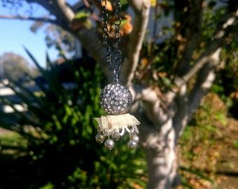 Silver Boho Orbital Necklace