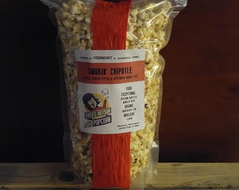 Smokin' Chipotle - Gourmet Popcorn - Made in Vermont - Applewood Smoked Salt, Cracked Pepper & Smokey Chipotle