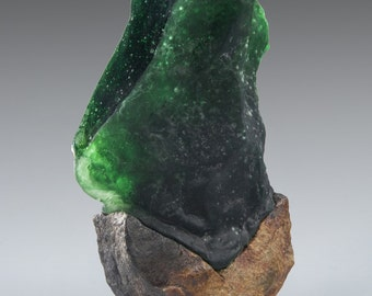 Green Mind - Cast Glass Sculpture