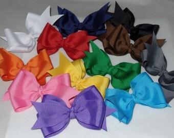 Boutique Bow Bundle~Set of 12 Boutique Hair Bows~USA Seller~