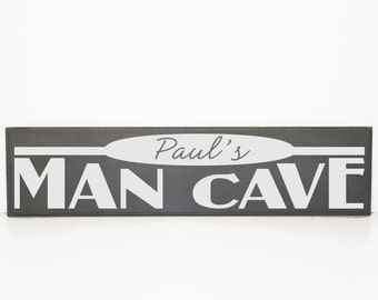 ON SALE - Personalized Man Cave Sign - Wood Board - Man Decor, Men's Birthday Gift, Garage Sign, Custom Man Cave, Father's Day Gift, Housewa