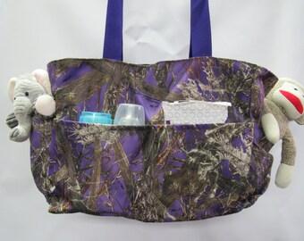 MC2 Purple Camo Diaper Bag