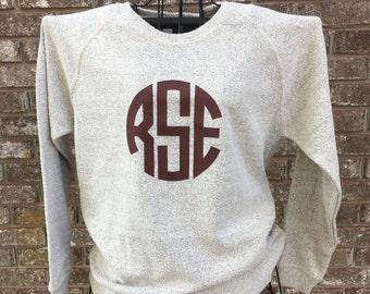 MONGRAMMED Poodle Fleece Sweatshirt