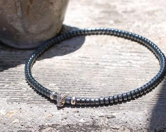 Mini Sterling Skull Bracelet