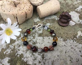 Prosperity bracelet, Yoga bracelet, meditation bracelet, healing bracelet, handknotted, beaded bracelet.