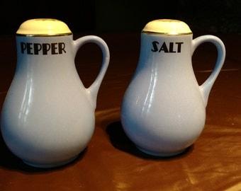 Sale!  Set of 1930s Hall China Kitchen Salt & Pepper Kitchen Shakers