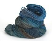 Hand-Painted DK Superwash Merino Wool Yarn - Clearest Ocean Waters