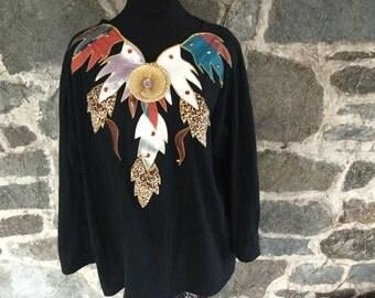 Fantastic 1980s Cotton Decorated Shirt