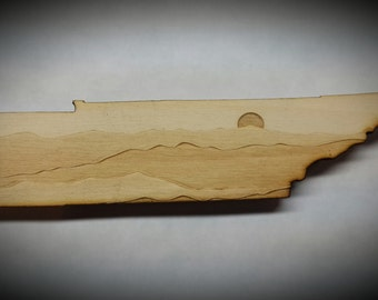 Tennessee-Shaped Smoky Mountain Magnet