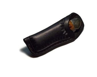 Custom Leather Medium Knife Sheath with small belt clip