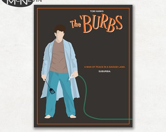 THE BURBS Minimalist Movie Poster, Fine Art Print