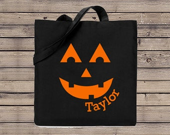 Jack O Lantern Trick or Treat Bag, Trick or Treat Halloween Bag, Halloween Bag,