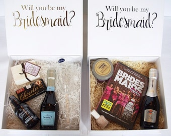 Will you be my BRIDESMAID/Maid of Honor/Matron of Honor box (collapsable) INSIDE PRINTING