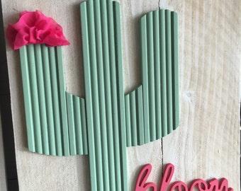 Cactus bloom sage
