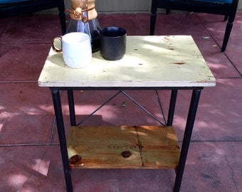 Reclaimed Repurposed Wood Industrial Modern End Table Night Stand