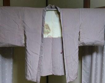CLEARANCE! Women's Silk Haori (Kimono Coat), Japanese vintage traditional kimono coat