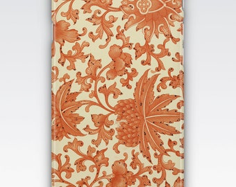 Case for iPhone 8, iPhone 6s,  iPhone 6 Plus,  iPhone 5s,  iPhone SE,  iPhone 5c,  iPhone 7  - Vintage Chinese Orange Floral Pattern