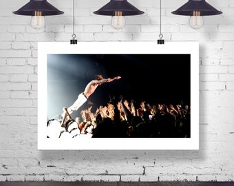 Photograph - Cage the Elephant Matthew Shultz Stage Diving  Fine Art Photography Print Wall Art Home Decor