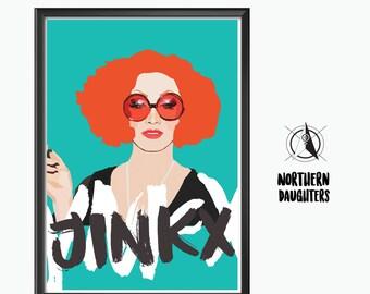 Jinkx Monsoon inspired print.