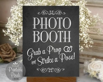 Photo Booth Sign Chalkboard Printable Wedding Party Instant Download Ready To Print (#PHO3C)