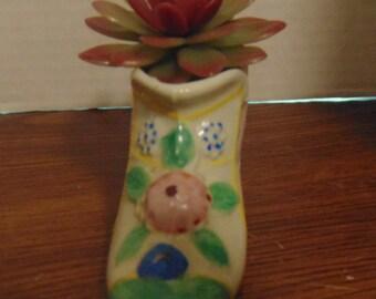 Porcelain Boot,Vase, Succulent Planter, Shoe Shape