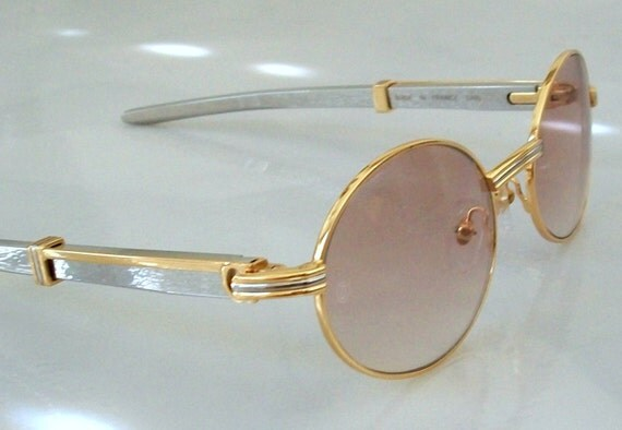 Gold Plated Glasses Frames : Sunglasses METAL corpus GOLD plated solid Eyeglass Frame