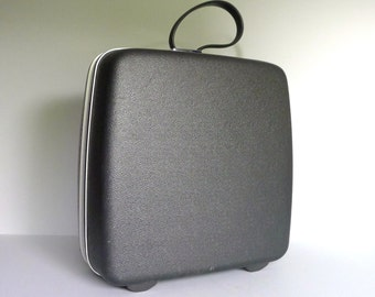 Vintage Gray Square Samsonite Suitcase