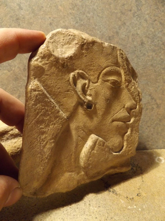 Egyptian art sculpture akhenaten relief carving replica