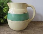 Vintage/Antique Roseville Green Stripe Cream Pitcher 1920s Vintage Kitchen