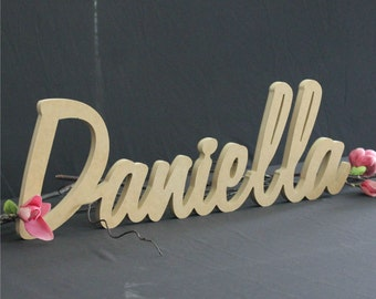 Raw MDF Freestanding Name Nursery Word Timber Custom wood cutout personalised