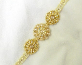 Swarovski Beaded bracelet,Gold Beaded bracelet,Beaded Crystal bracelet - Circle of Life Bracelet