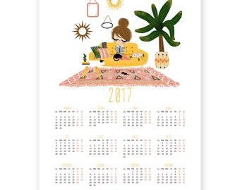 2017 Poster Calendar - Home Sweet Home - yellow