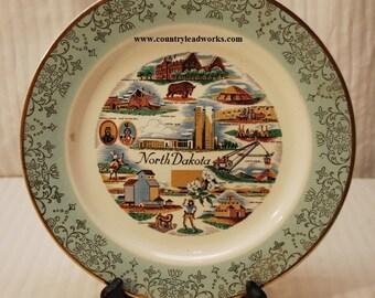 North Dakota Collectors Plate - 10 Inch