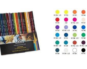 Verithin Colored Pencils 24 Count Assorted Colors,  High Quality Pigment Pencils For Rich Color Saturation, Fine Detail Pencils For Artist