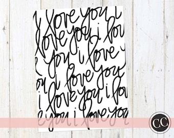 I Love You Repeat Print | Digital Download