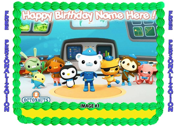 Personalized OCTONAUTS Edible image cake topper by ...
