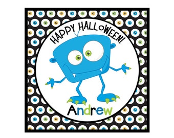 Personalized Halloween Stickers-Halloween Tags-Set of 12