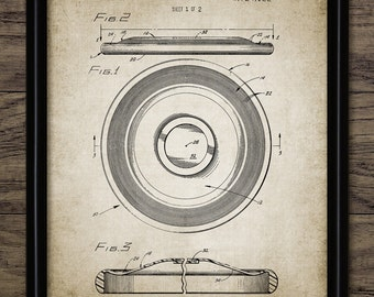 Frisbee Patent Print - 1973 Frisbee Design - Flying Disc Patent - Frisbee Invention - Frisbee Decor - Single Print #2038 - INSTANT DOWNLOAD