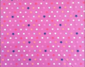 Jersey Stars on Purple 150cm, 95 percent Cotton 5 percent Elastane