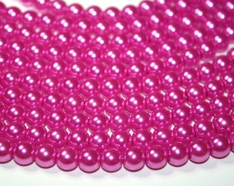 Pink Glass Pearls 12mm - 34ct
